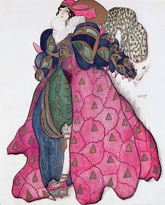 1929 Drawing - Costume Design For The Ballet La by Leon Bakst