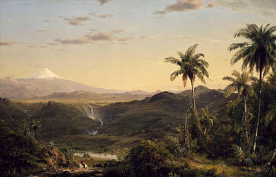 Canyon Painting - Cotopaxi by Frederic Edwin Church