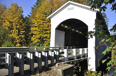 Mosby Photograph - Cottage Grove Or  Covered Bridge Tour by Wendy Elliott