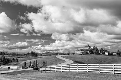 Canada Photograph - Country Living Bw by Steve Harrington