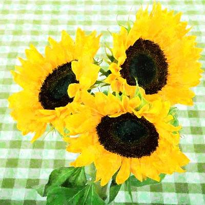 Country Sunflowers Original by Florene Welebny