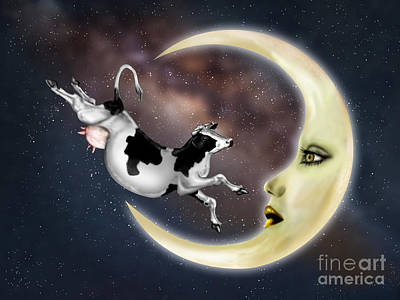 Nursery Rhyme Digital Art - Cow Jumped Over The Moon by Paul Fleet