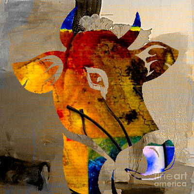 Cow Mixed Media - Cow by Marvin Blaine