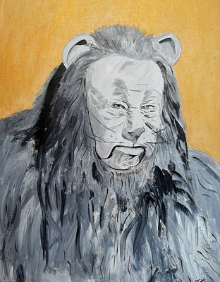 Painting - Cowardly Lion by Dan Twyman