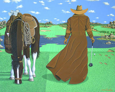 Lance Headlee Painting - Cowboy Caddy by Lance Headlee