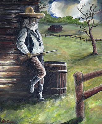 Gun Barrel Painting - Cowboy by Stefan Kaertner