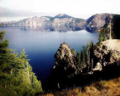 Crater Lake 1 Art Print by Marty Koch