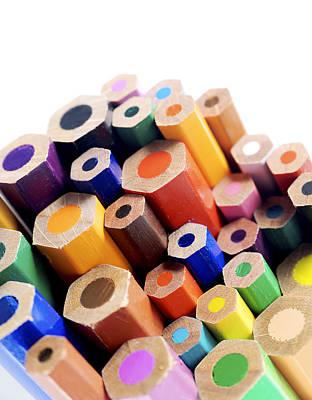Crayons Art Print by Chevy Fleet
