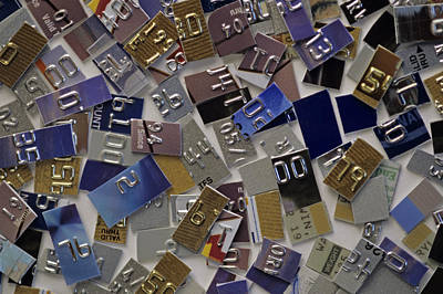 Photograph - Credit Cards Abstract by Jim Corwin