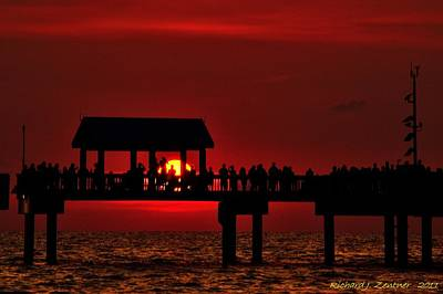Art Print featuring the photograph Crimson Sunset by Richard Zentner