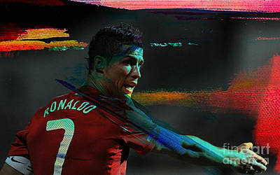 Cristiano Ronaldo Mixed Media - Cristiano Ronaldo by Marvin Blaine