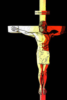 Jesus Christ Digital Art - Crucifixion  by Carol and Mike Werner