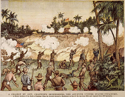 U.s Army Drawing - Cuba San Juan Hill, 1898 by Granger