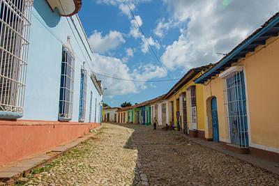Cobbled Street Photograph - Cuba, Sancti Spiritus Province, Trinidad by Inger Hogstrom