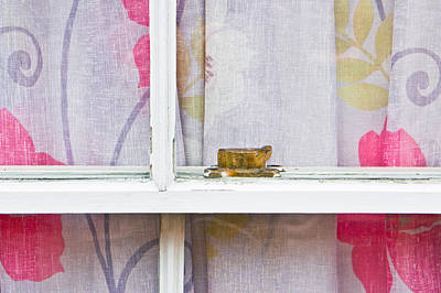 Window Sill Photograph - Curtain by Tom Gowanlock