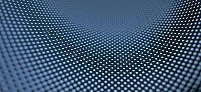 Curved Dot Pattern Art Print by Ralf Hiemisch