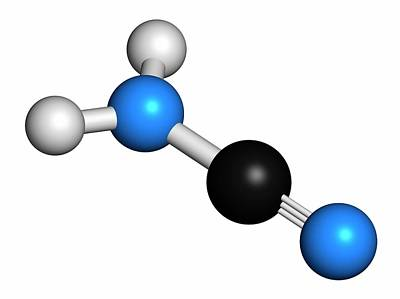 Cyanamide Molecule Art Print