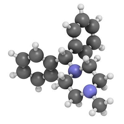 Vomit Photograph - Cyclizine Antiemetic Drug Molecule by Molekuul
