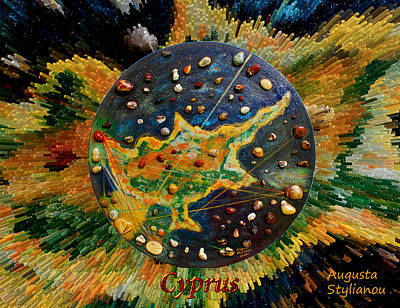 Planet Earth Mixed Media - Cyprus Stars by Augusta Stylianou