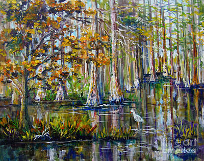 Painting - Cyprus Swamp by Lou Ann Bagnall