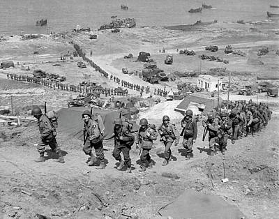 Second Day Of Battle Photograph - D-day Invasion by Underwood Archives