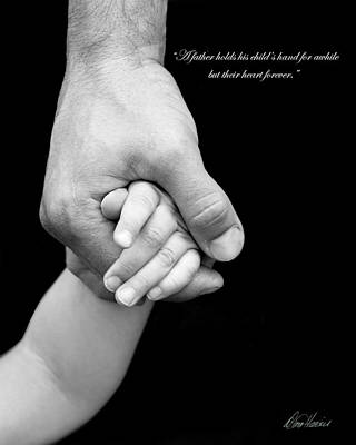 Photograph - Daddy's Hand by Diana Haronis