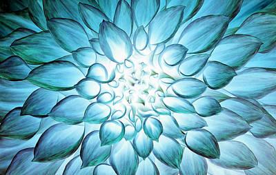 Psychedelic Photograph - Dahlia Flower by Sumit Mehndiratta