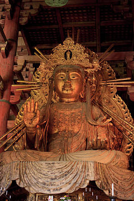 Buddha Statue Photograph - Daimonji Temple In Nara, Japan Is Home by Paul Dymond
