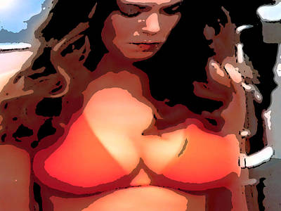 Dukes Of Hazard Show Digital Art - Daisy Duke by J Anthony