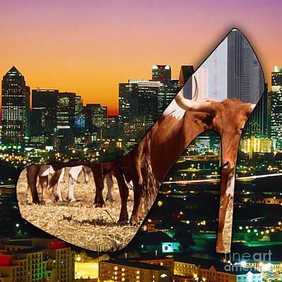 Dallas Skyline Mixed Media - Dallas Texas Skyline by Marvin Blaine