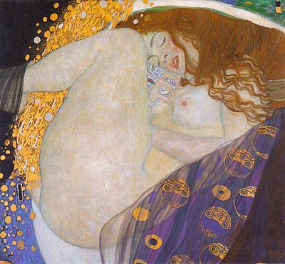 Klimt Painting - Danae by Gustav Klimt