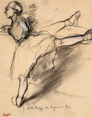 Dancer At The Bar Art Print by Edgar Degas