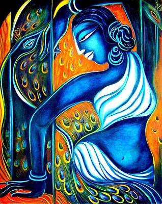 Bangles Painting - Dancing With Peacocks by Raji Chacko