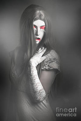 Photograph - Dark Fine Art Portrait. Beautiful Vampire Woman by Jorgo Photography - Wall Art Gallery