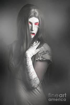 Monster Photograph - Dark Fine Art Portrait. Beautiful Vampire Woman by Jorgo Photography - Wall Art Gallery