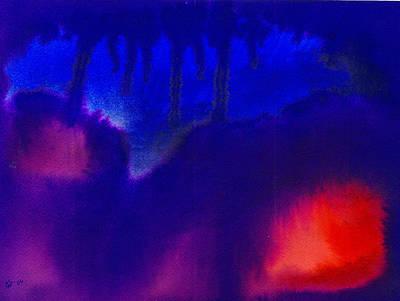 Disorder Painting - Dark Night Of The Soul by Ellen Stockdale Wolfe