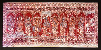 Painting - Dasavatharam Of Lord Vishnu by Ragunath Venkatraman