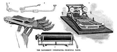Daugherty Typewriter, 1895 Art Print
