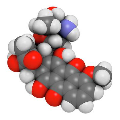Daunorubicin Cancer Drug Molecule Art Print