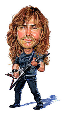 Comics Royalty-Free and Rights-Managed Images - Dave Mustaine by Art