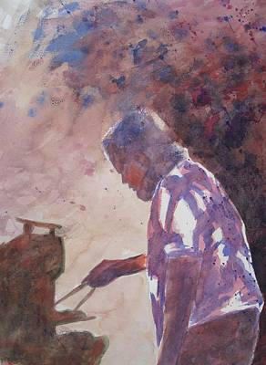 Painting - Dave's Barbeque by John  Svenson