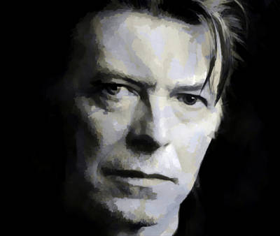 Painting - David Bowie - Watercolor by Doc Braham