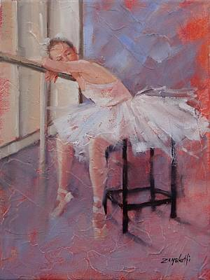 Ballet Dancer Painting - Day Dreamer by Laura Lee Zanghetti