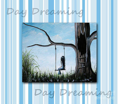 Girl On A Swing Painting - Day Dreaming By Shawna Erback by Shawna Erback