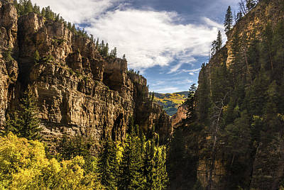 Rocky Mountain Horse Photograph - Dead Horse Creek Canyon - Glenwood Canyon Colorado by Brian Harig