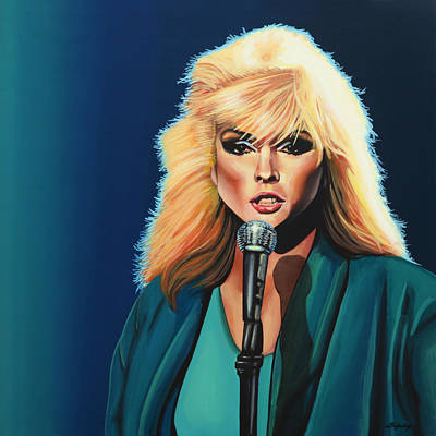 Deborah Harry Or Blondie Painting Art Print by Paul Meijering