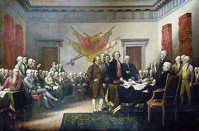 Declaration Of Independence  Art Print by John Trumbull