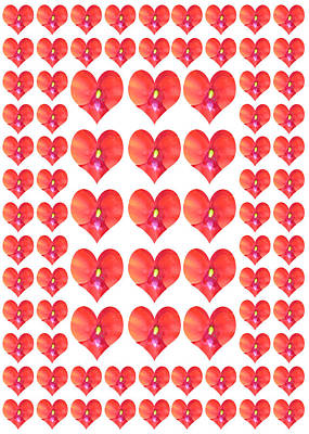 London City Map Painting - Deeply In Love Cherryhill Flower Petal Based Sweet Heart Pattern Colormania Art by Navin Joshi