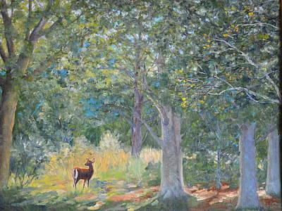 Deer In The Clearing Art Print by Betty McGlamery