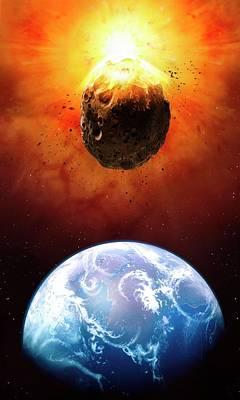 Deflecting A Near-earth Asteroid Art Print by Mark Garlick